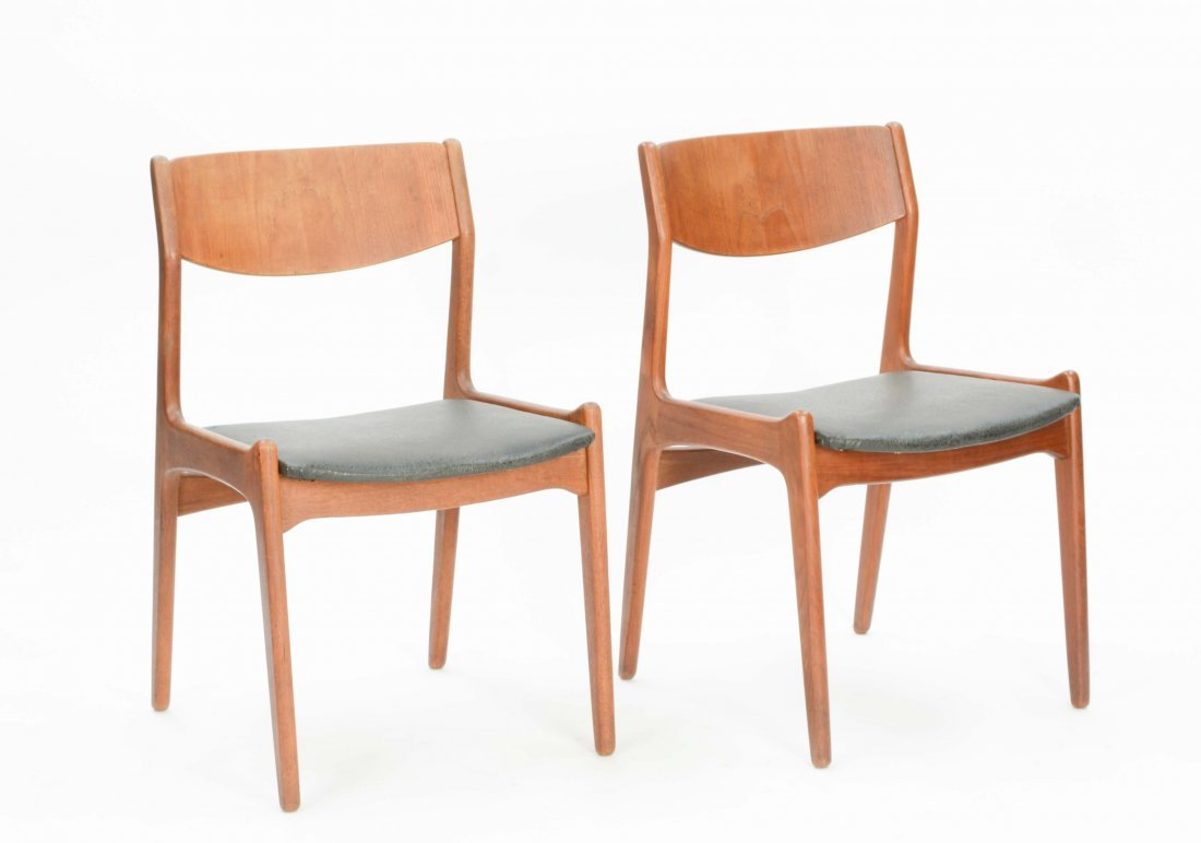 A set of 4 Danish Teak Dining Chairs - 2