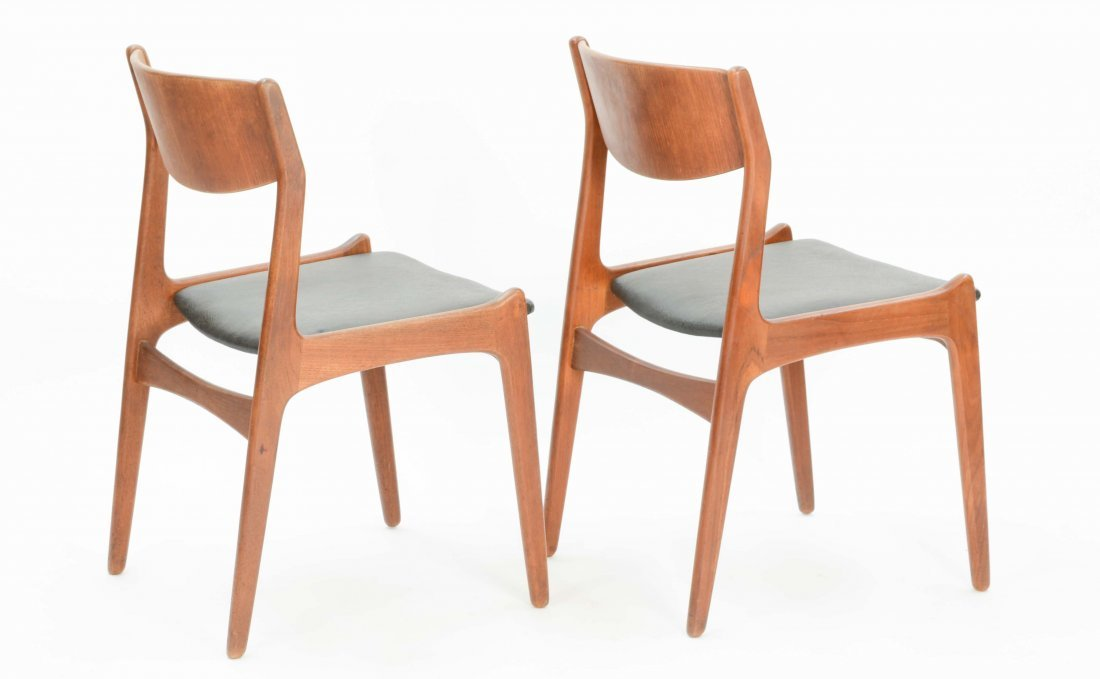 A set of 4 Danish Teak Dining Chairs - 3