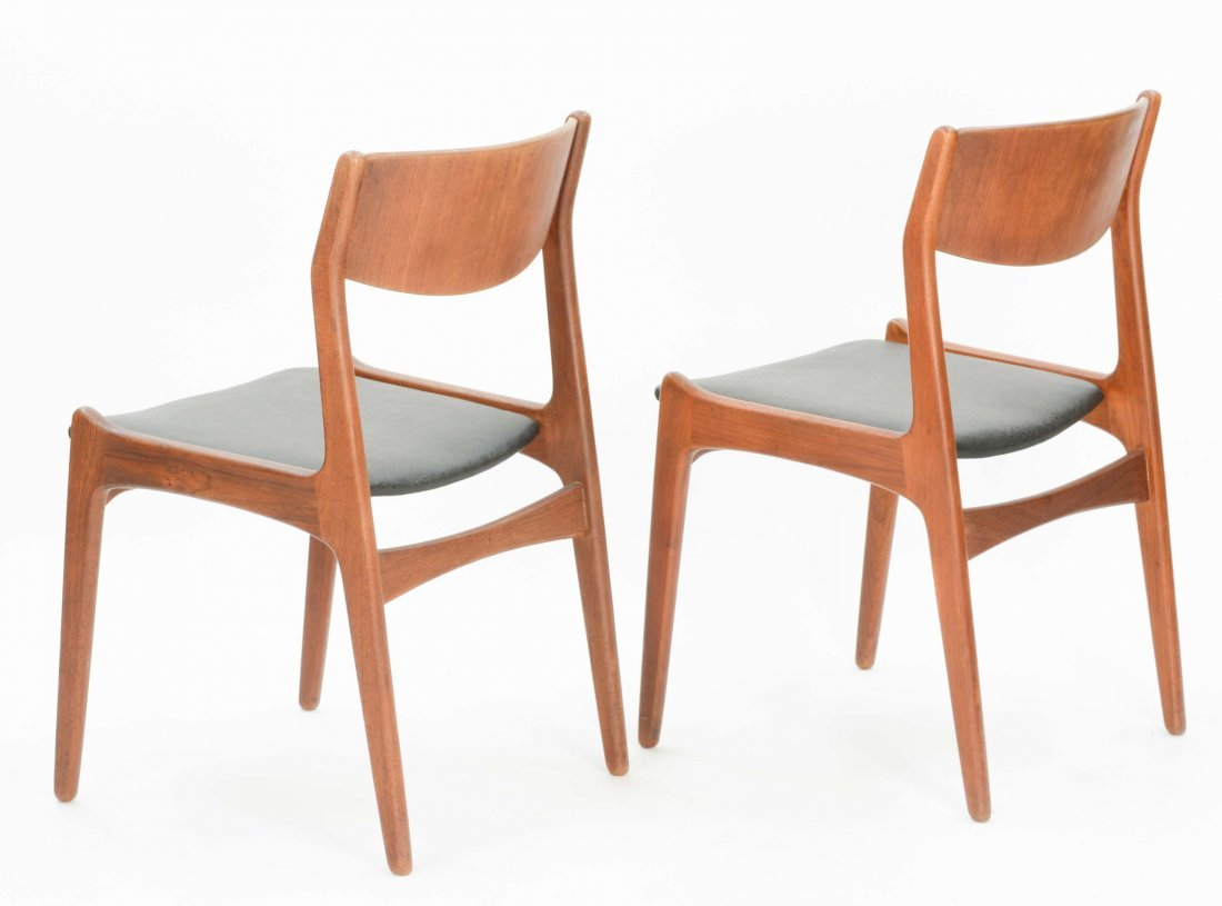 A set of 4 Danish Teak Dining Chairs - 5