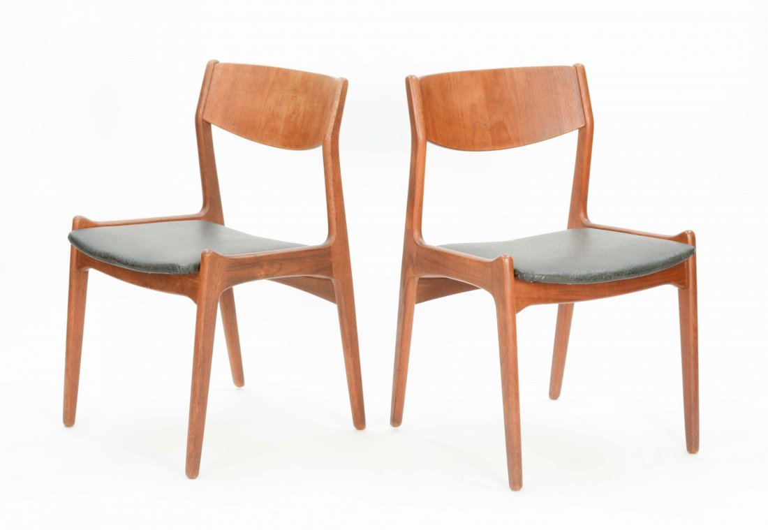 A set of 4 Danish Teak Dining Chairs - 7