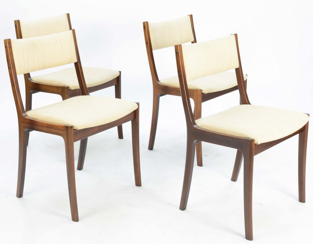 Set of 4 Ole Wancher Dining Chairs in Mahogany