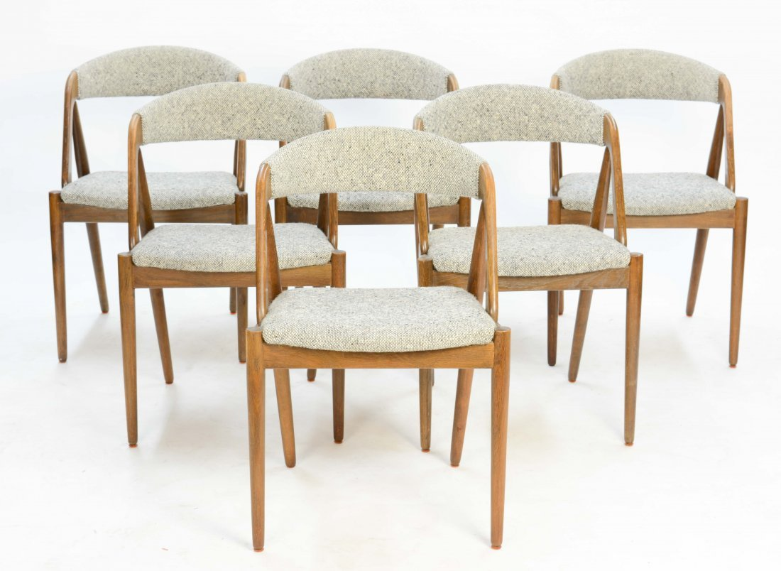 A set of 6 Kai Kristensen Teak Dining Chairs