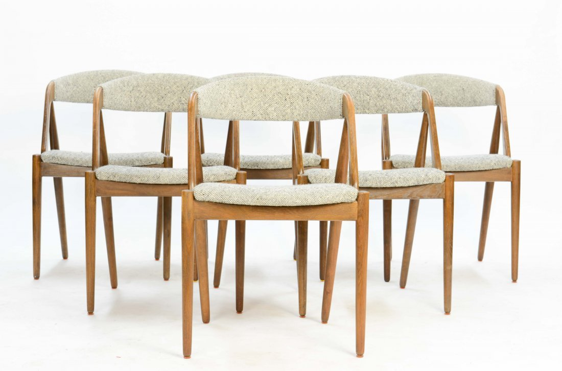 A set of 6 Kai Kristensen Teak Dining Chairs - 2