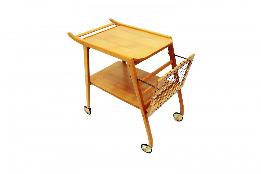 Mid-Century Swedish Breakfast Cart