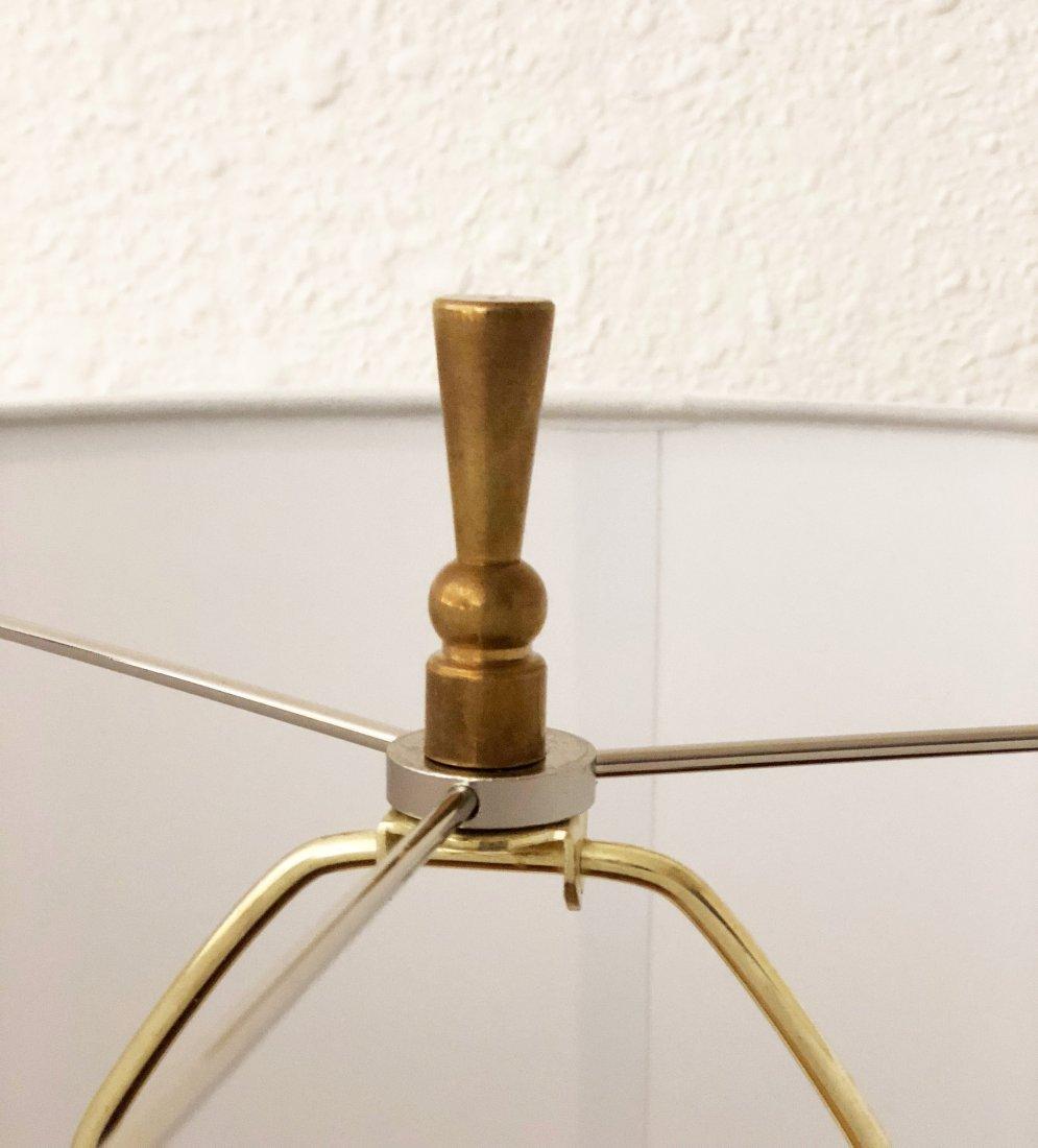 Pair of Italian Teak and Alabaster Lamps - 10