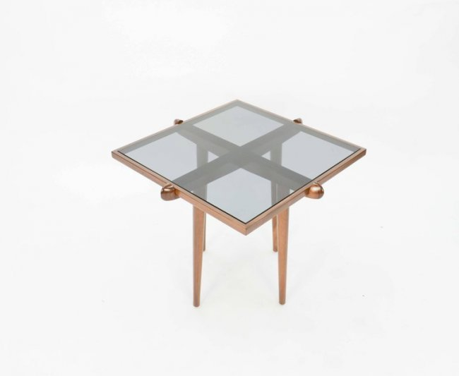 Italian Walnut Side Tables Inspired by Gio Ponti - 3