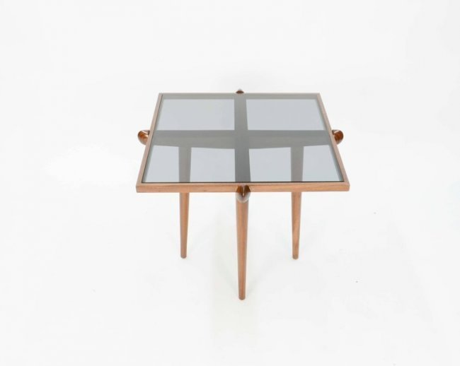 Italian Walnut Side Tables Inspired by Gio Ponti - 4