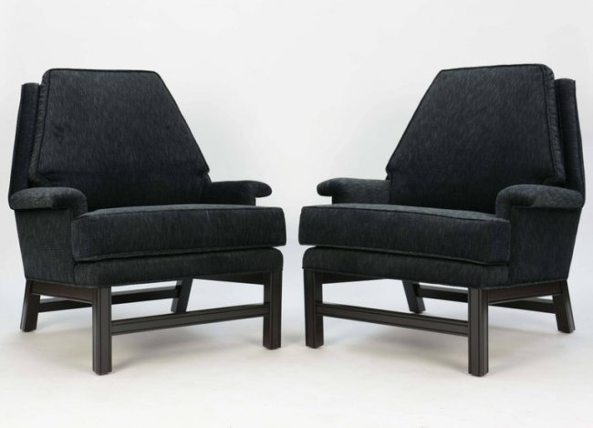 Gorgeous Pair of Midcentury Club Chairs Fully Restored