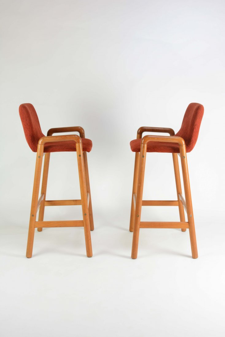A Pair of Koefoed Mobler's Bar Stools