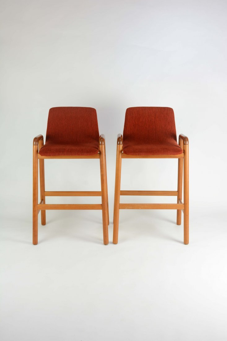 A Pair of Koefoed Mobler's Bar Stools - 2