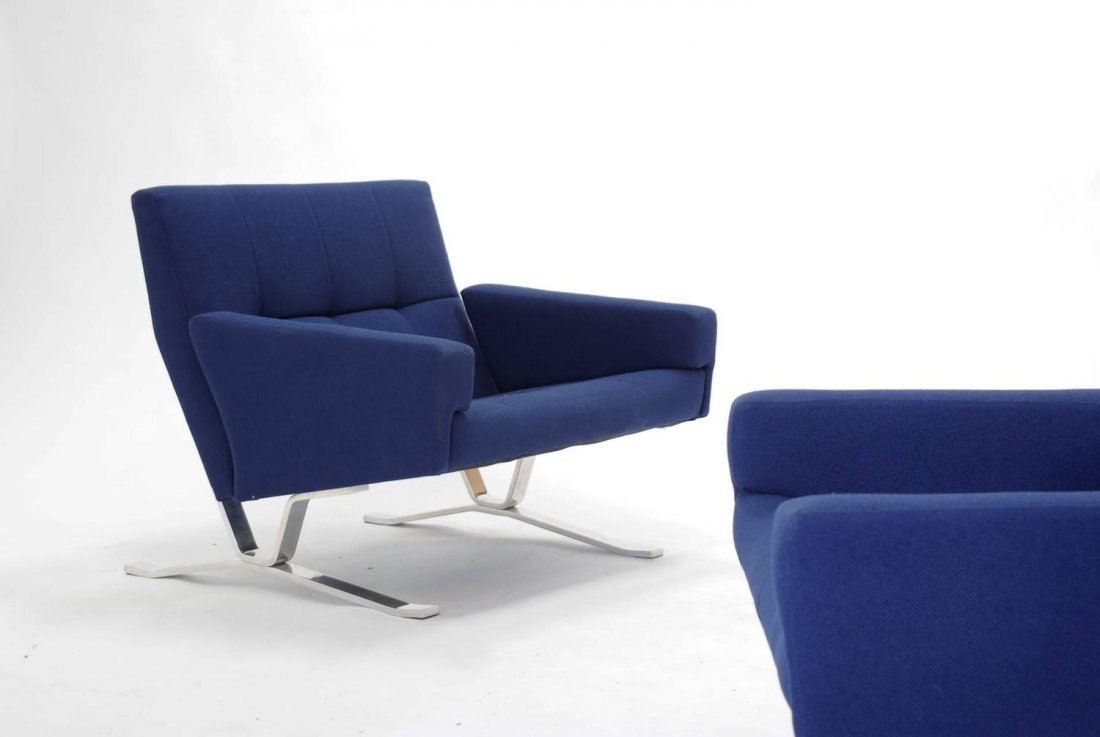 Club Chairs for JG Furniture Co. after Poul Kjaerholm - 3