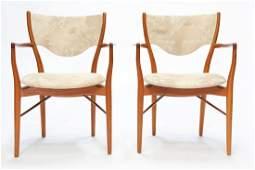 Set of Two Finn Juhl Arm Chairs for Bovirke
