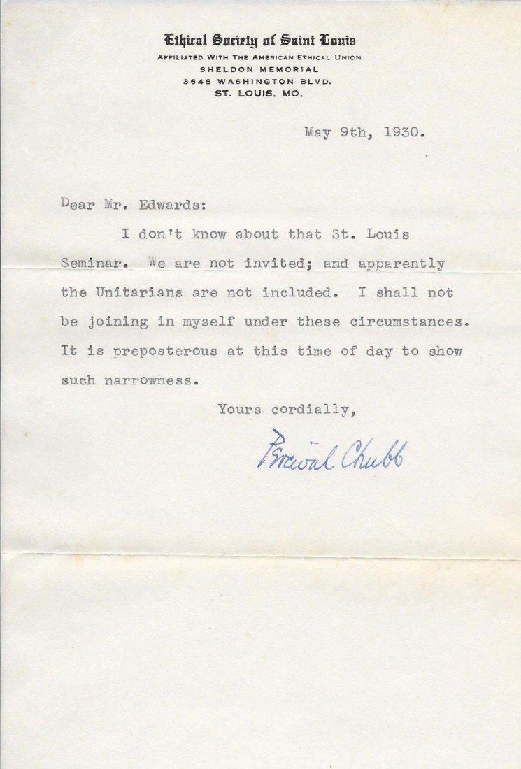 Percival Chubb Letters