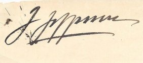 Joseph Joe Jefferson Cut Signature