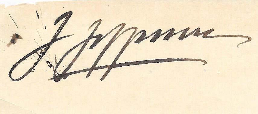 Joseph Joe Jefferson Cut Signature