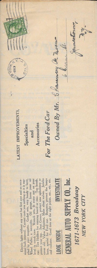 Rare General Auto Supply Catalog 1913