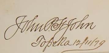 John Pierre St John Signature - Politician / Soldier