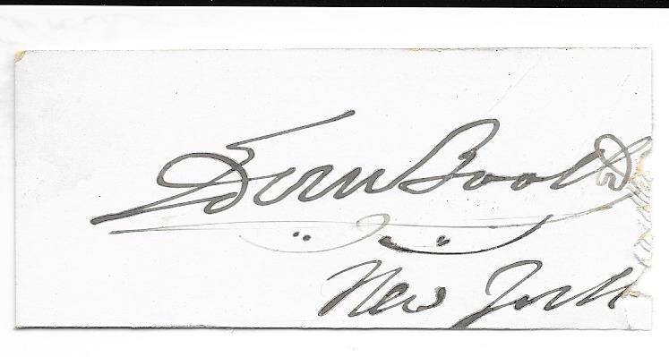 Edwin Booth Signature - Actor / Brother of John WIlkes