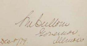Shelby Cullom Signature - Governor