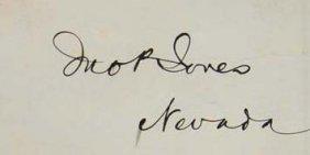 John Jones Signature - Politician / Gold Miner