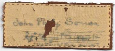 John Phillip Sousa Signature on Silk - Composer