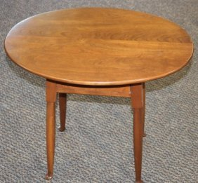 L & JG Stickley Cherry Valley Oval End Table