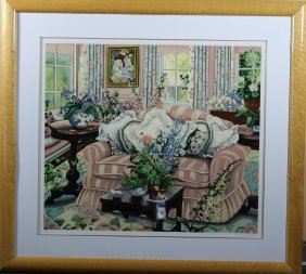 "Susan Rios ""Coming Home"" serigraph signed XCI/C 38""x40"""