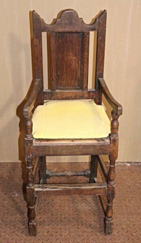 High Chair James I Oak circa 1620