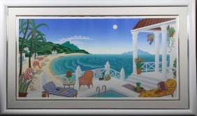 "Thomas McNight ""Crescent Bay"" signed serigraph 64/195"