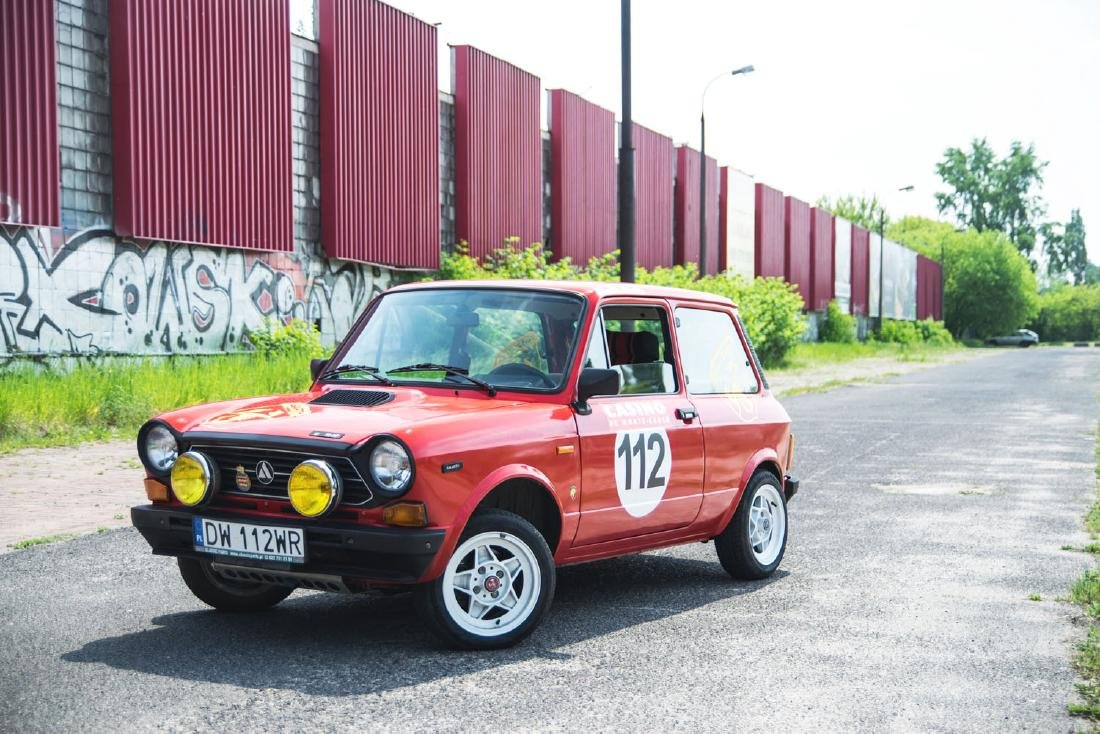 AUTOBIANCHI A112 ABARTH, 1979; Small Italian sports car;