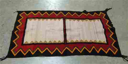 174: Native American Indian rug. 2 rectangular medallio