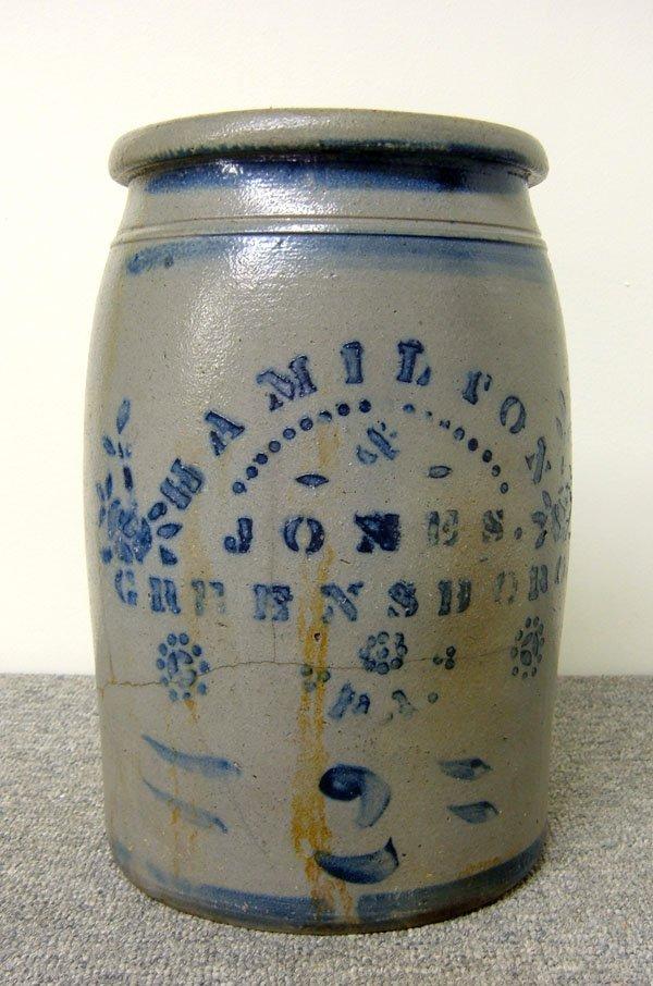 245: 2-gallon Hamilton & Jones Greensboro, PA stoneware