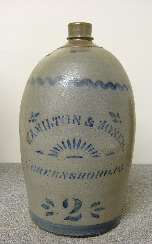 261: 2-gallon Hamilton & Jones Greensboro, PA stoneware