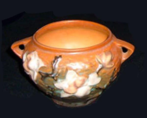 10: Roseville Brown Magnolia Vase  #665-3