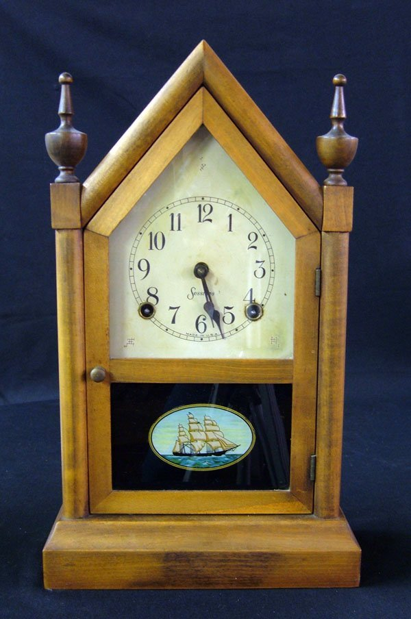 15: Maple Sessions Steeple Clock Ships Decor