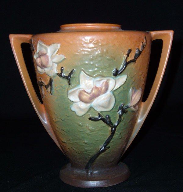 20: Roseville  #94-9 Brown Magnolia Vase