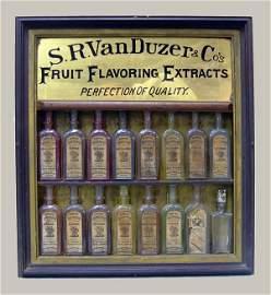 211: S.R. Van Duzer Fruit Flavoring Extracts Display