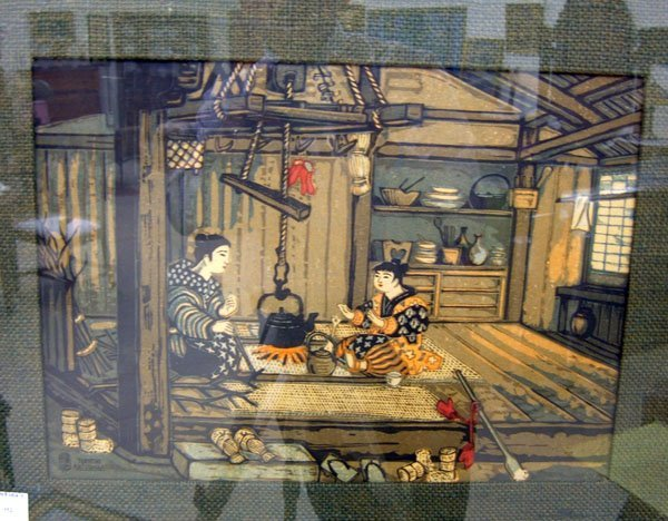 352: Tokoshi Katsuhira Interior Woodblock Print