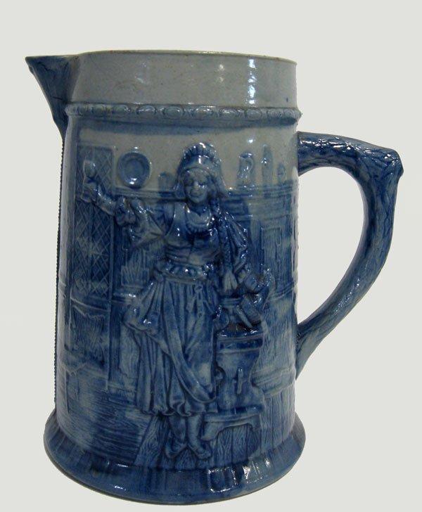 9: Flemish stoneware pitcher made for Cleveland, Ohio C