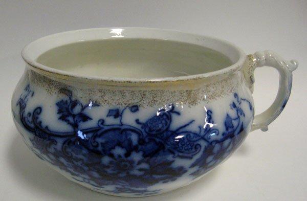 14: Flow blue chamber pot ''Brooklyn'' England by Johns