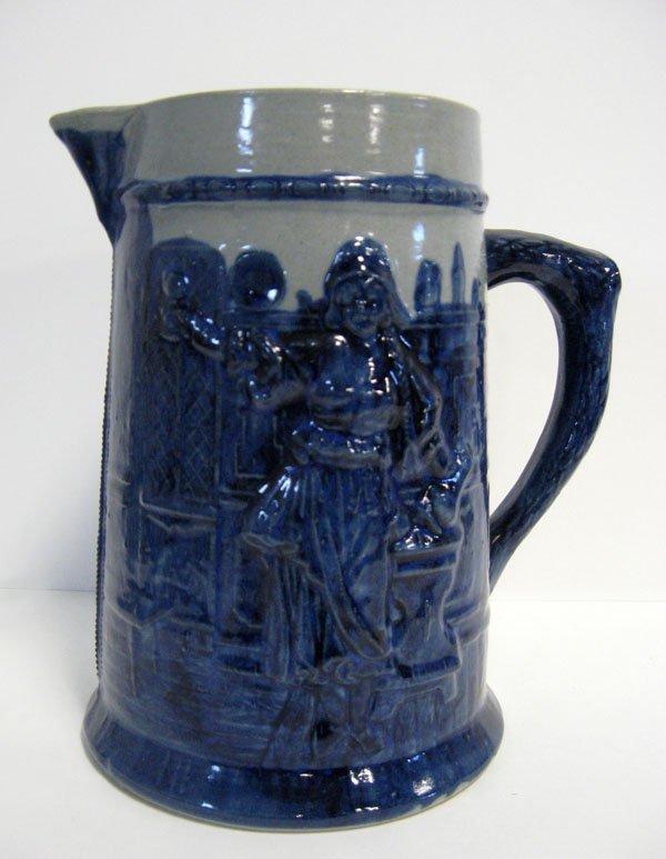 16: Stoneware pitcher. Robinson Clay, Akron, CA1900 ''M