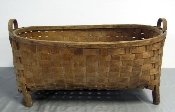 20: Long field basket used for baby or crops, self hand