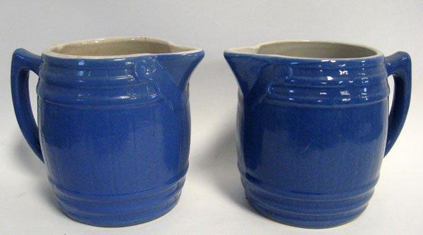21: UHL Pottery. Pair of Squat UHL Pottery, Indiana cro