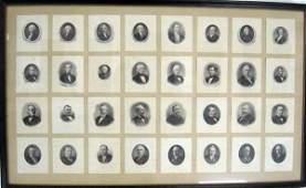 101 Thirtytwo separate engravings of US presidents