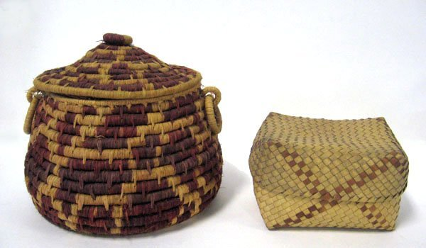 14: Two American Indian baskets. Over all good conditio