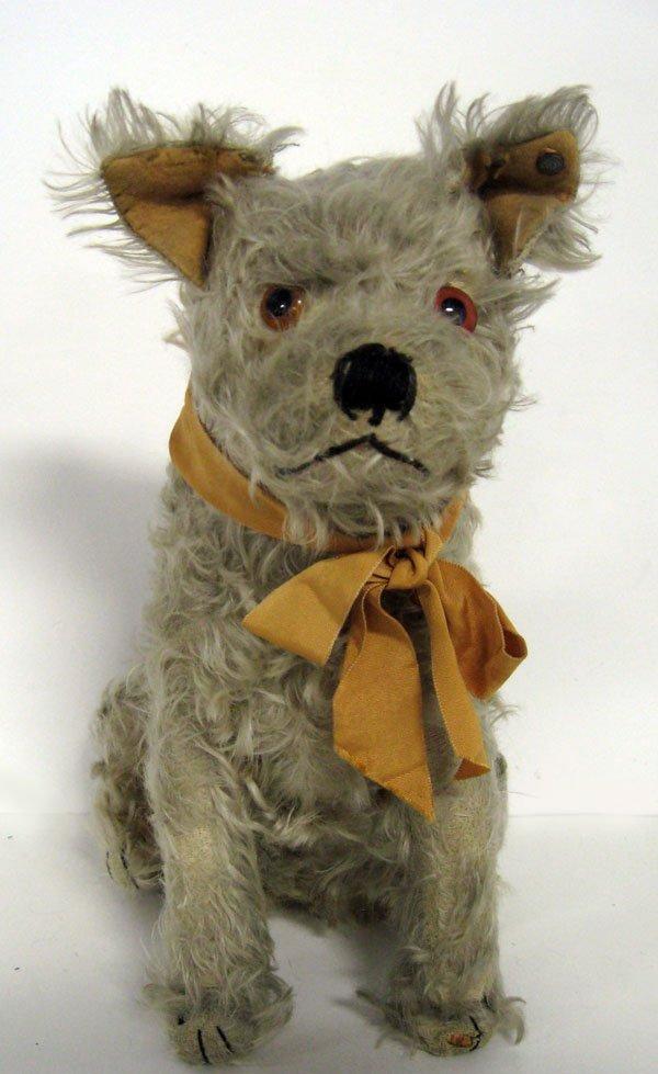Dog. 12'' German Steiff mohair dog with button, ca 1920