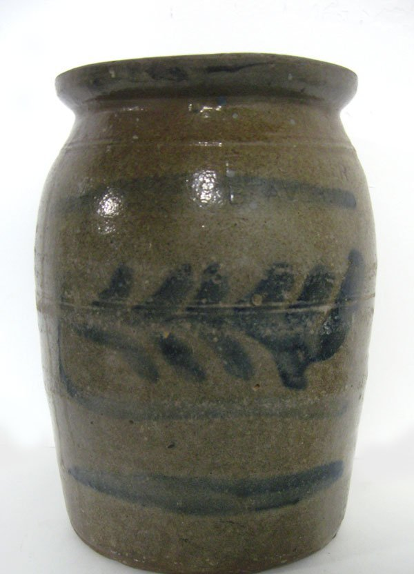 Stoneware 2 gallon crock by F. Fowler Beaver, PA. with