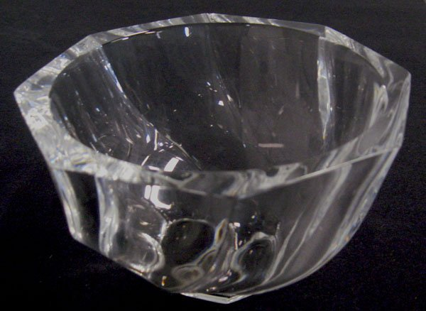 Orrefors crystal bowl. Good condition. 4''h x 6 5/8'' d