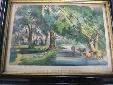 Currier and Ives lithograph Home Sweet Home Origin