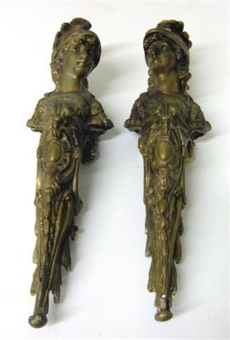 4: Pair of bronze figures